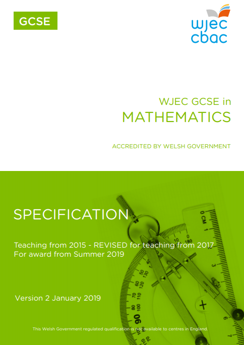 GCSE Maths Specification